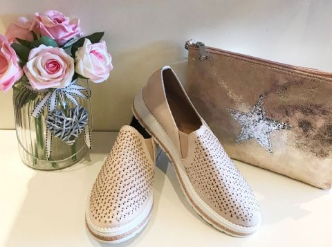 Sparkly Pink Diamante Loafers